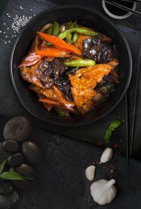 Тофу по- домашнему с овощами