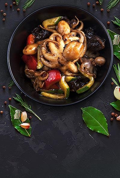 Baby-осьминожки в тайском соусе