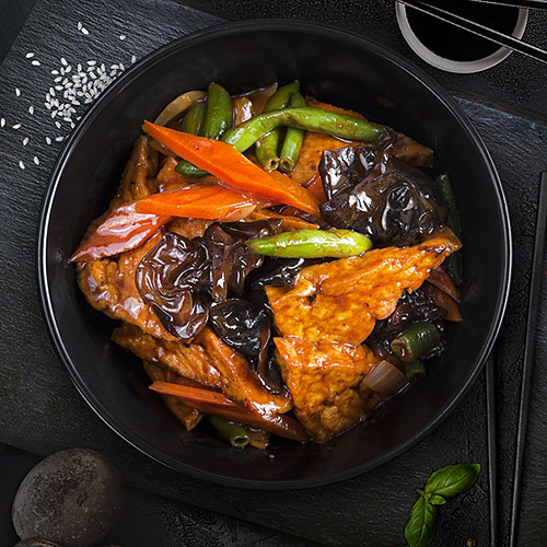 Тофу по-домашнему с овощами