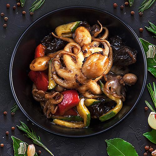 Заказать Baby-осьминожки в тайском соусе